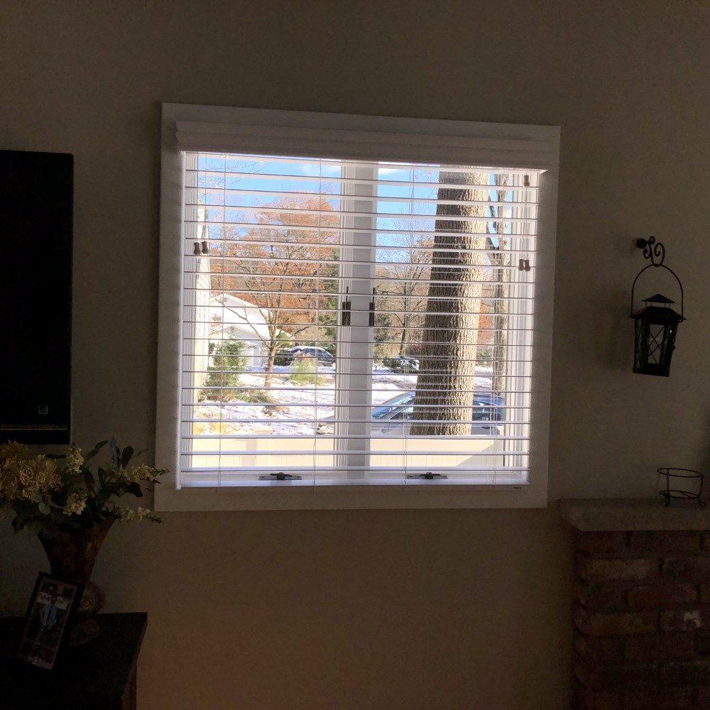 Faux Wood Blinds In Bay Window Park Ridge