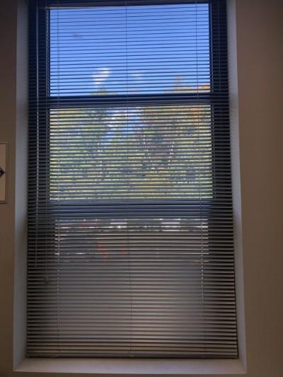 Graber aluminum mini-blinds mounted inside window frames Installed in Mahwah NJ.