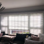 Graber faux wood blinds installed in Allendale, NJ