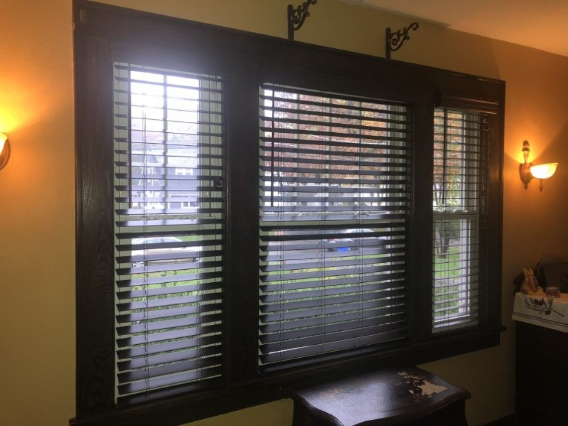 Graber 2 inch Faux Wood-blinds in Walnut Finish in Suffern, NY