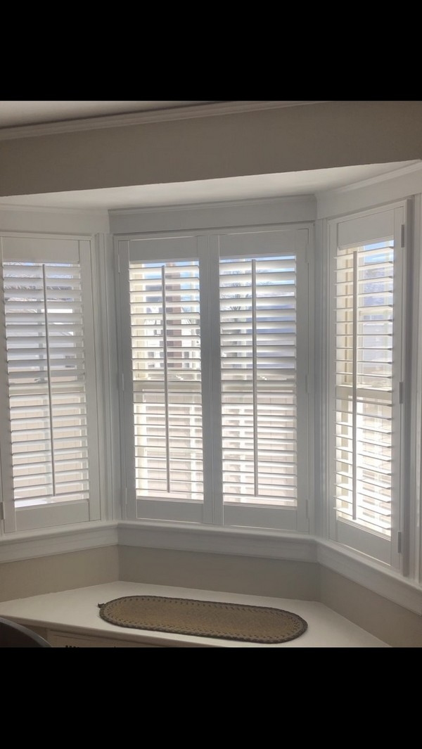 Hunter Douglas 2 1/2 Louvered Faux Wood Shutters with Front Tilt Levers Maywood NJ
