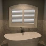 Hunter Douglas Custom Faux Wood Arch Shutter in Montvale, NJ