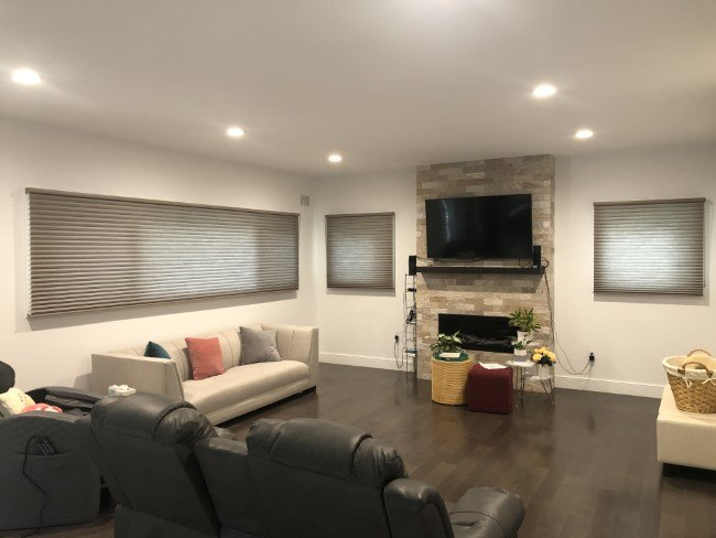 Hunter Douglas Duette Honeycomb Shades With Continuous Loop Cords in Ridgewood
