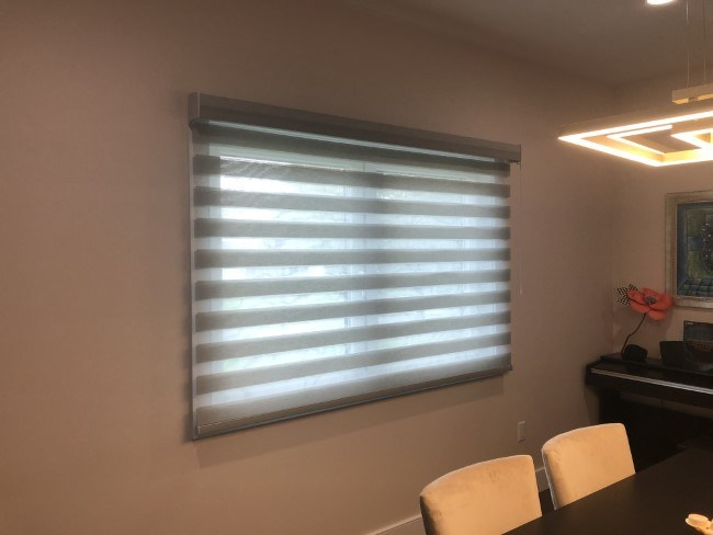 Hunter Douglas Motorized Soft Touch Pirouette in Ridgewood, NJ