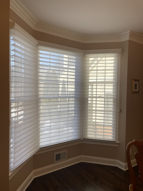Hunter Douglas 3-inch Nantucket/Silhouette Shades with Fabric Covered Headrails in Wyckoff NJ