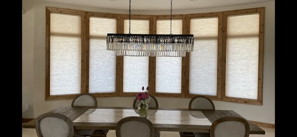 Hunter Douglas 3/4-inch Semi-Opaque Cellular Shades with Motorized Lift System in Woodcliff Lake NJ