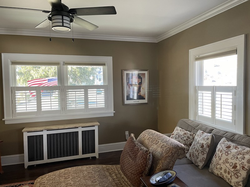 Hunter Douglas Three-Sided Frame Café Shutters in Pearl River NY