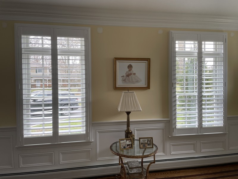 Hunter Douglas 3 1/2-inch Louvered Faux Wood Interior Shutters in Wyckoff NJ