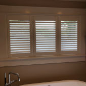 HD Louvered Shutters with Frames and Tilt in Ridgewood, NJ