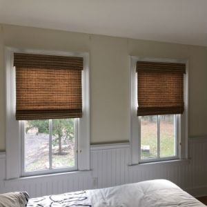 Graber Woven Wood Blinds Installed in Wyckoff, NJ