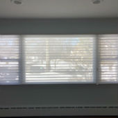 Hunter Douglas Nantucket Silhouettes and Graber Cellular Shades in Wyckoff
