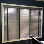Timeless Grey Wood Blinds in North Haledon, NJ